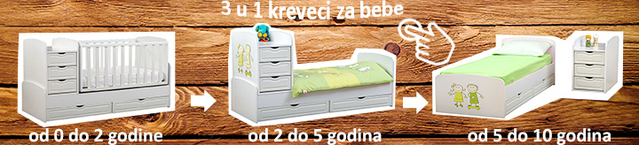 Krevetac 3 u 1