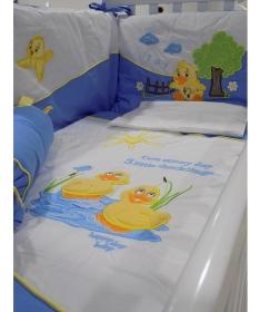 Posteljina pače za krevetac za bebe plava_2