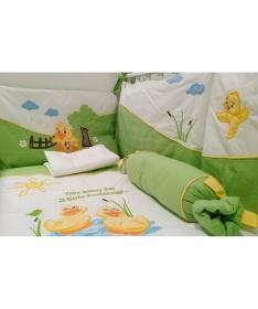 Pače komplet posteljine za krevetac za bebe zelena_1